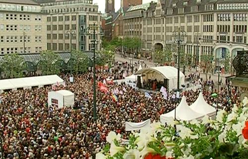 Demonstration auf dem Rathausmarkt 2012