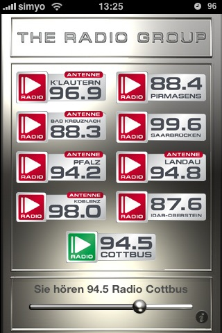 94.5 Radio Cottbus auf dem Apple iPhone