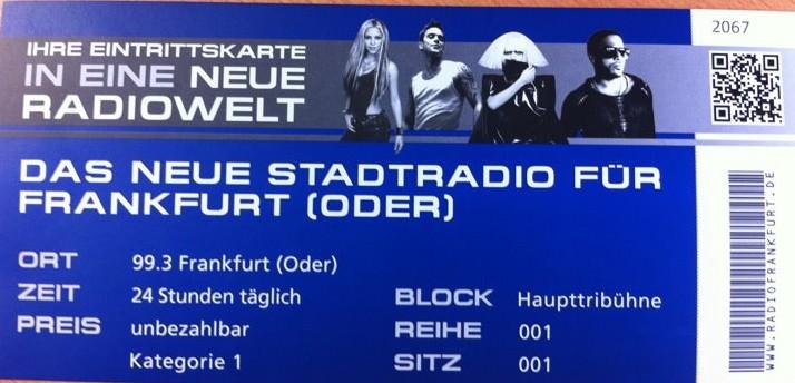 99.3 Radio Frankfurt/Oder ist on air!