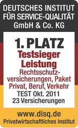 DISQ - Beste Rechtsschutzversicherung 2011